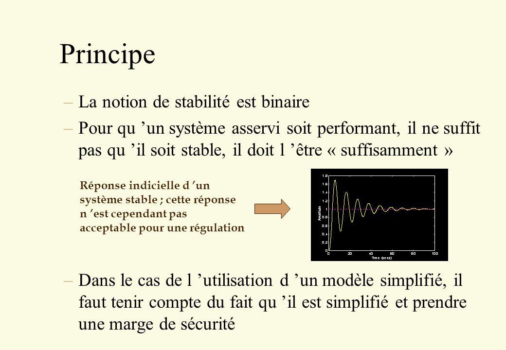 Principe La notion de stabilité est binaire