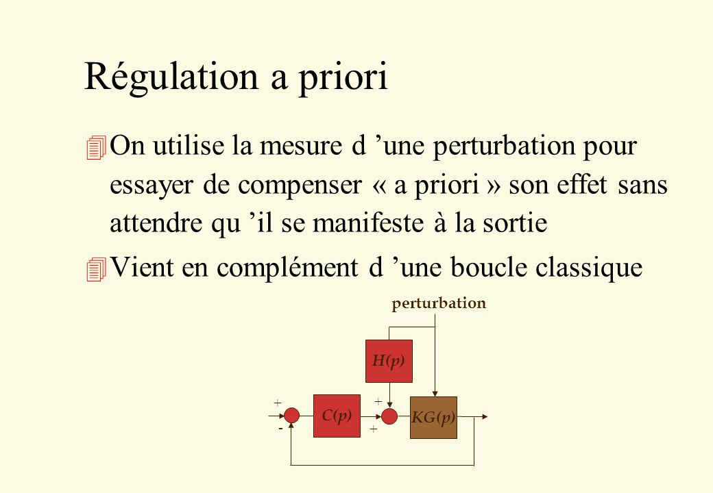 Régulation a priori