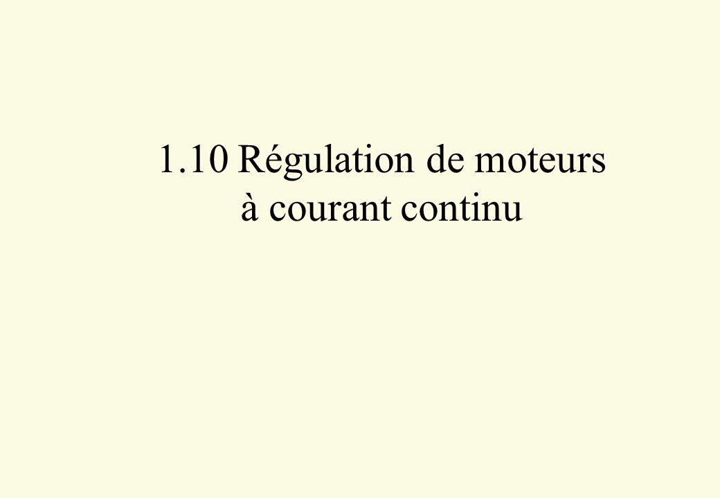 1.10 Régulation de moteurs à courant continu