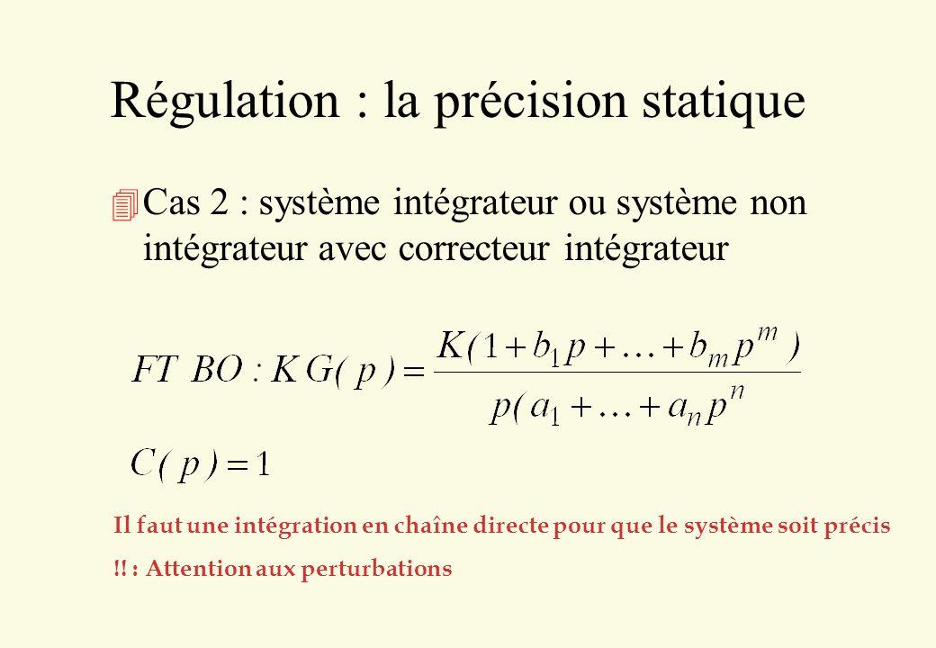 Régulation : la précision statique