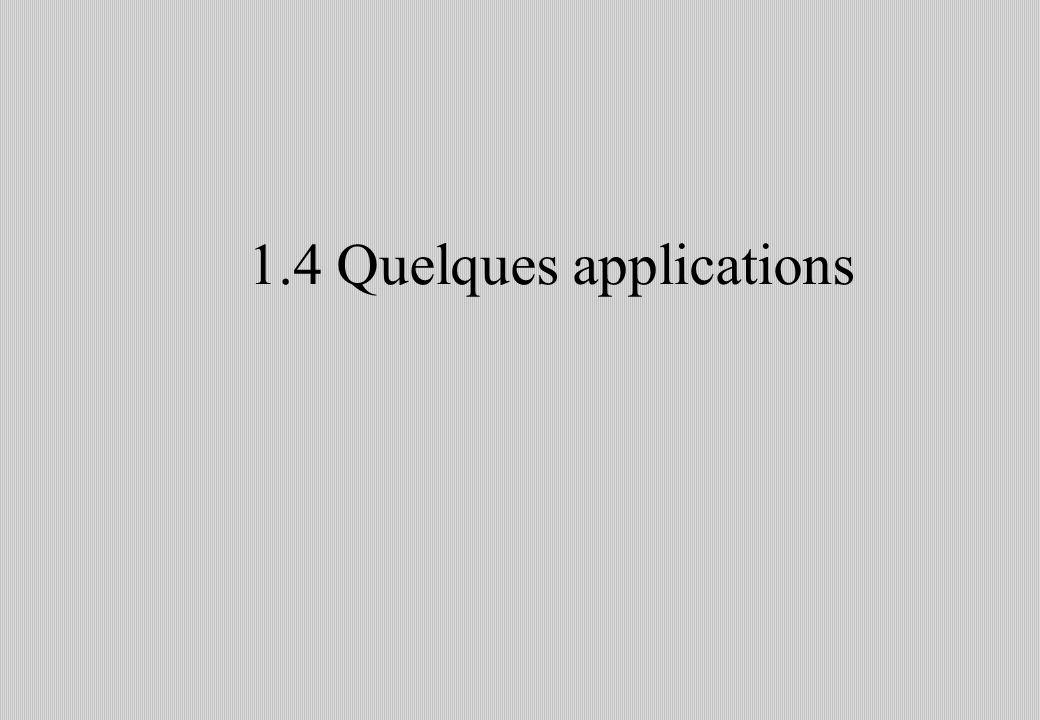 1.4 Quelques applications