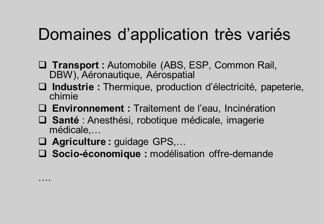 Domaines d'application très variés
