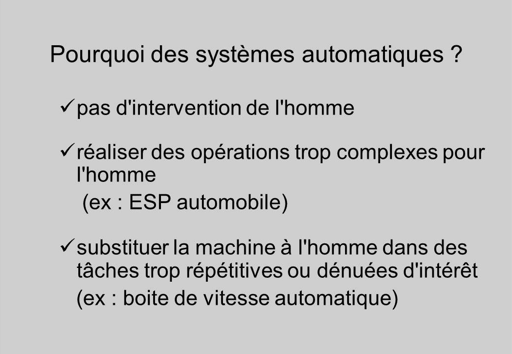 Pourquoi des systèmes automatiques