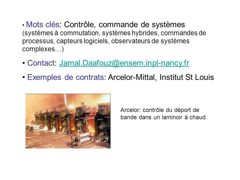 Contact: Jamal.Daafouz@ensem.inpl-nancy.fr