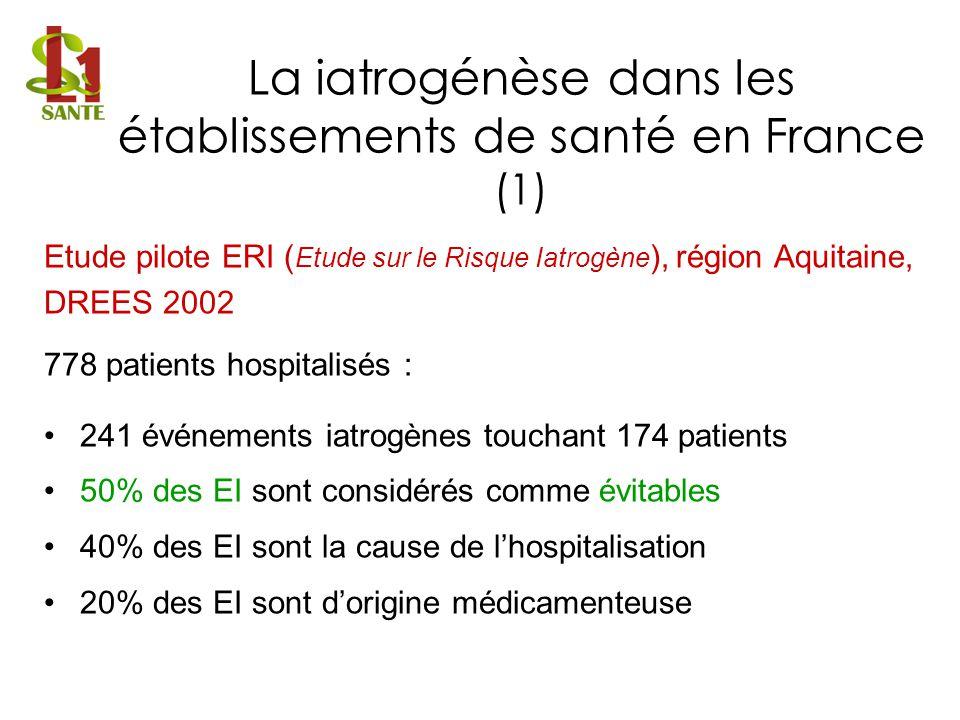La iatrogénèse dans les établissements de santé en France (1)