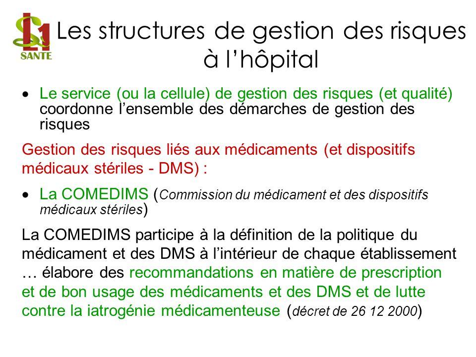 Les structures de gestion des risques à l'hôpital