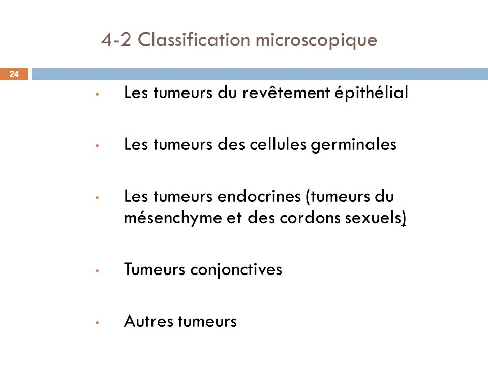 4-2 Classification microscopique