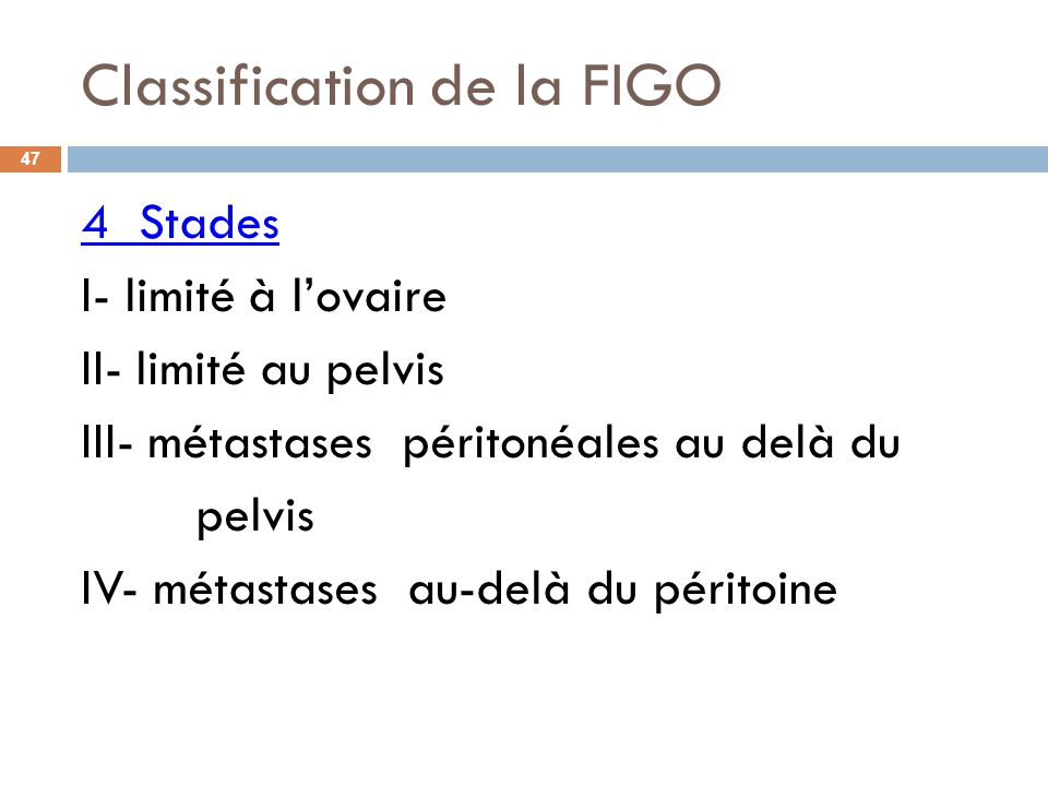 Classification de la FIGO