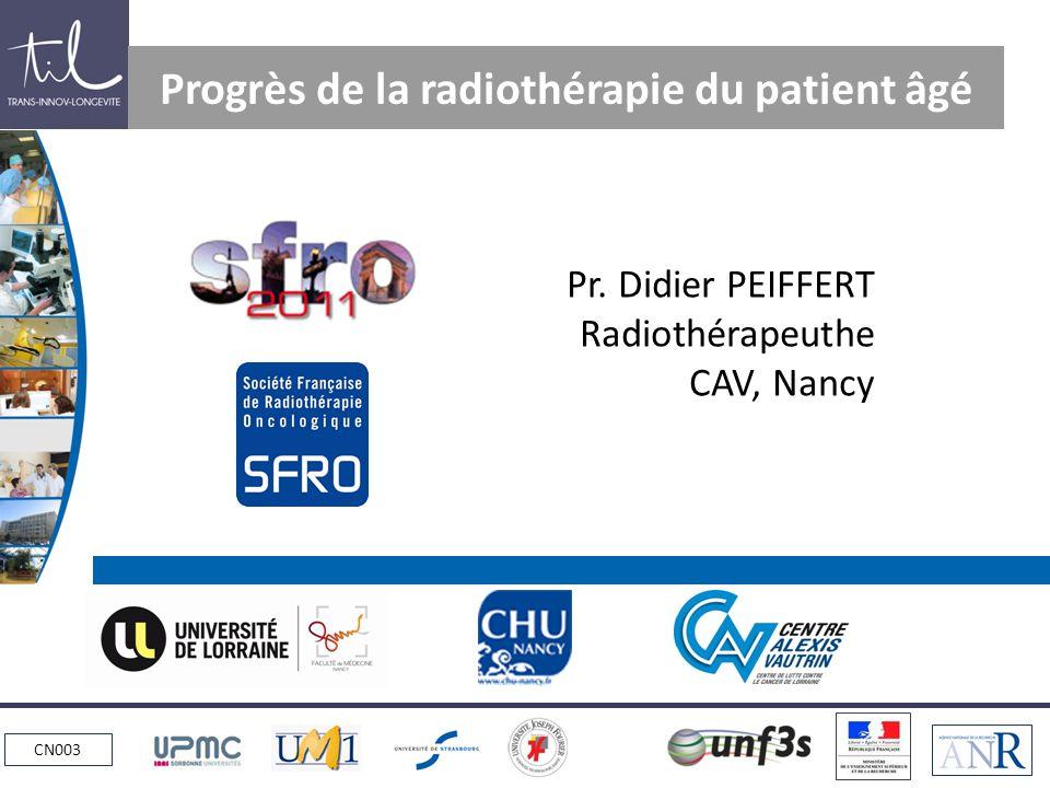 Progrès de la radiothérapie du patient âgé
