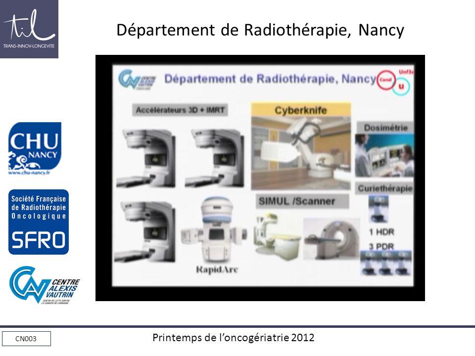 Département de Radiothérapie, Nancy