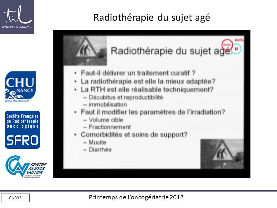 Radiothérapie du sujet agé
