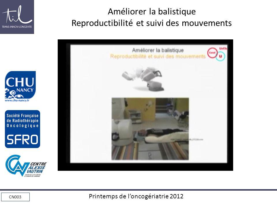 Améliorer la balistique Reproductibilité et suivi des mouvements