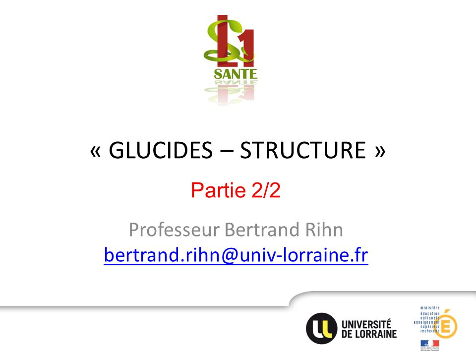 « GLUCIDES – STRUCTURE »