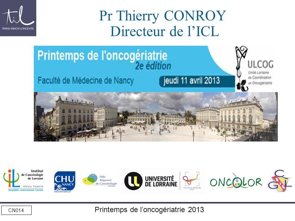 Pr Thierry CONROY Directeur de l'ICL