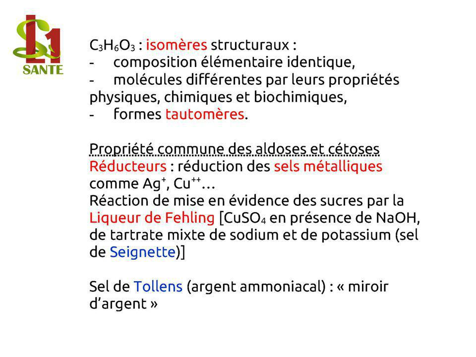 C3H6O3 : isomères structuraux :