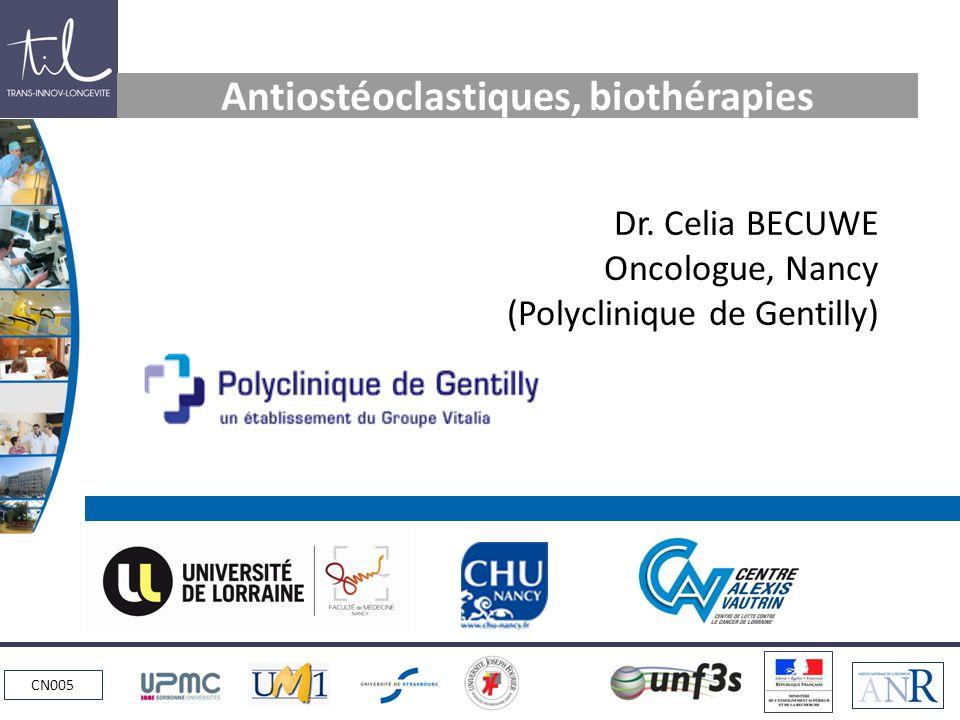 Antiostéoclastiques, biothérapies