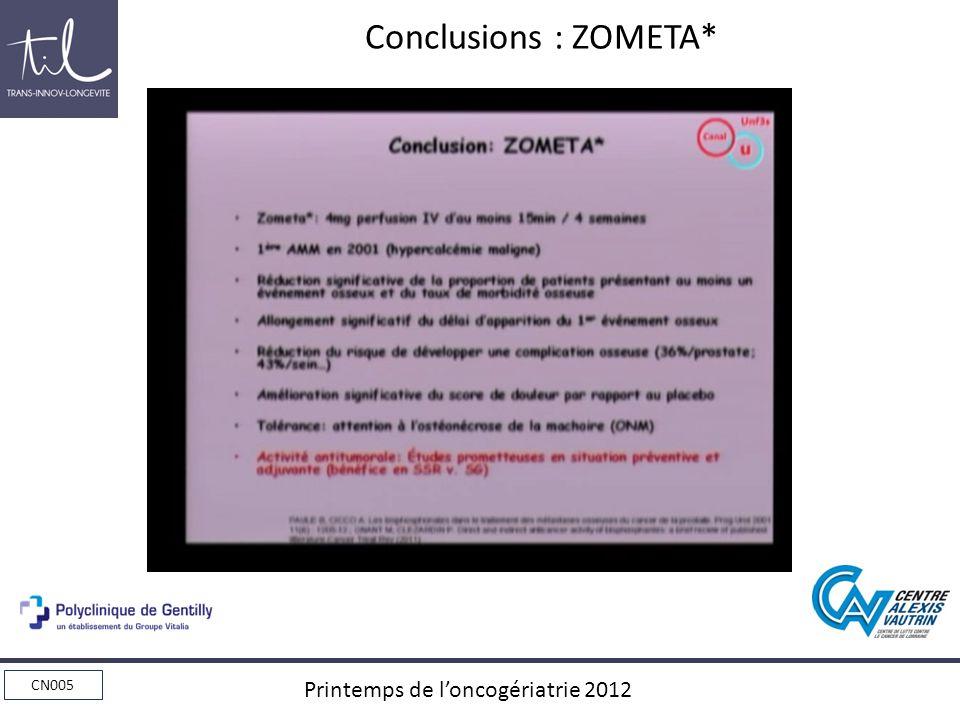 Conclusions : ZOMETA*