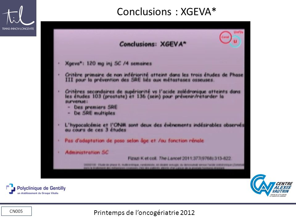 Conclusions : XGEVA*
