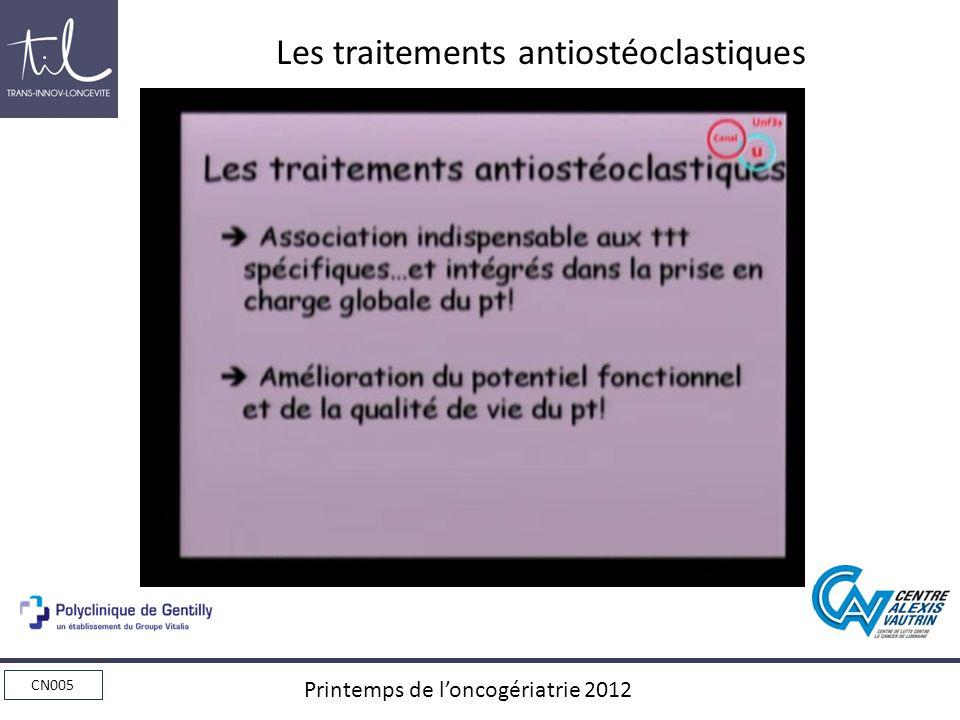 Les traitements antiostéoclastiques