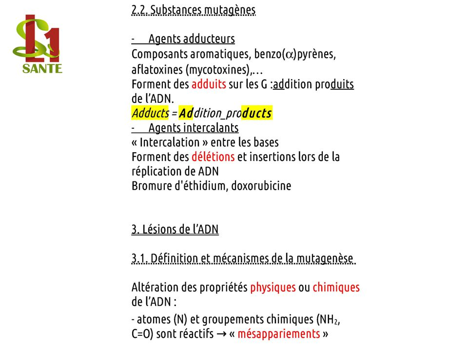 2.2. Substances mutagènes
