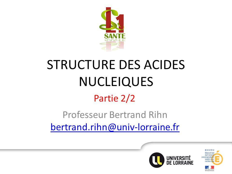 STRUCTURE DES ACIDES NUCLEIQUES