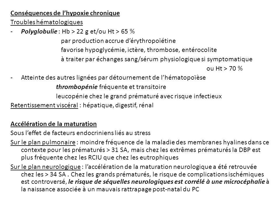 Conséquences de l'hypoxie chronique