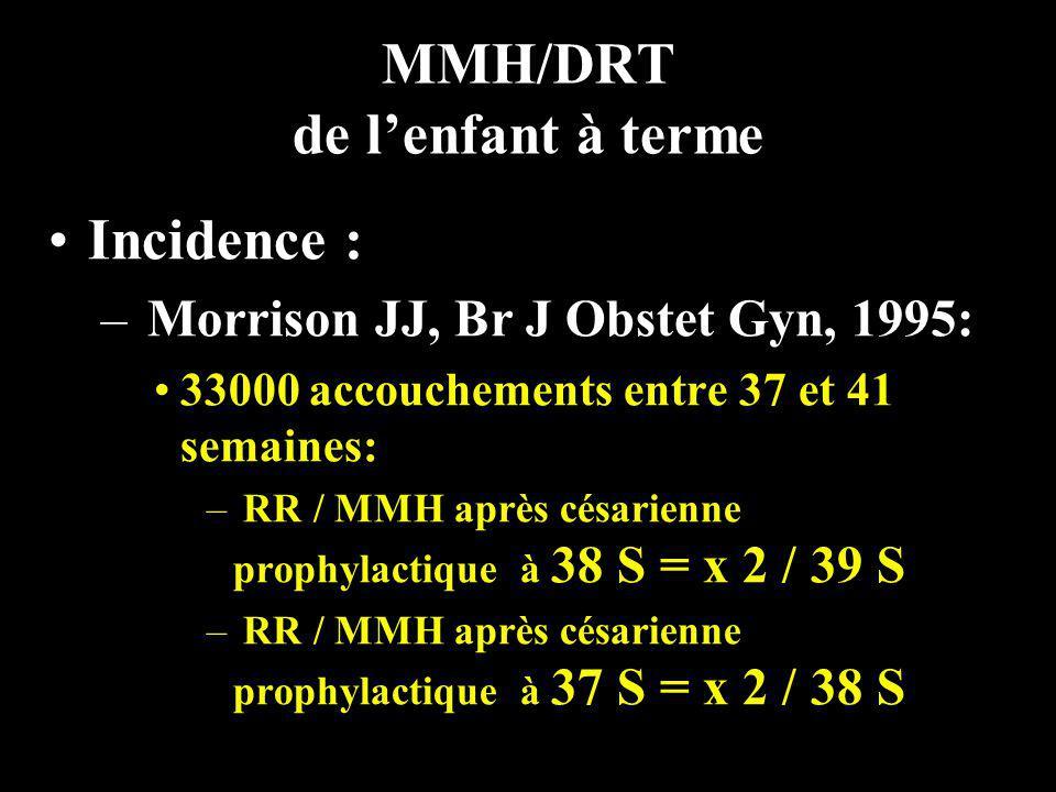 MMH/DRT de l'enfant à terme