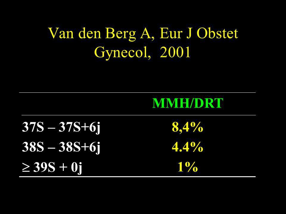 Van den Berg A, Eur J Obstet Gynecol, 2001