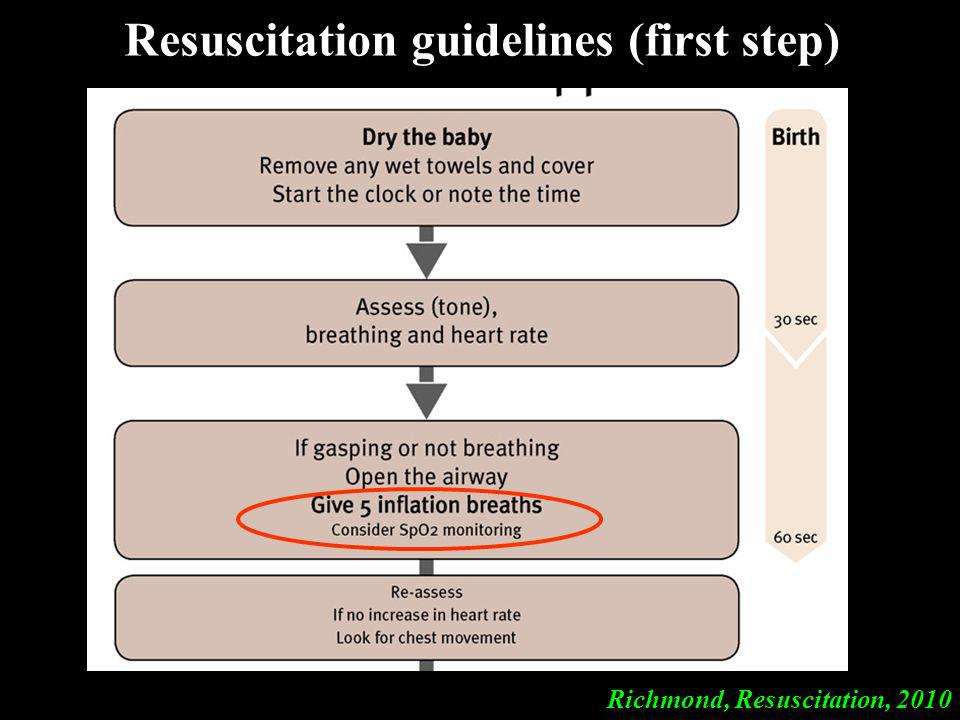 Resuscitation guidelines (first step)