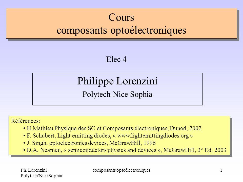 Cours composants optoélectroniques