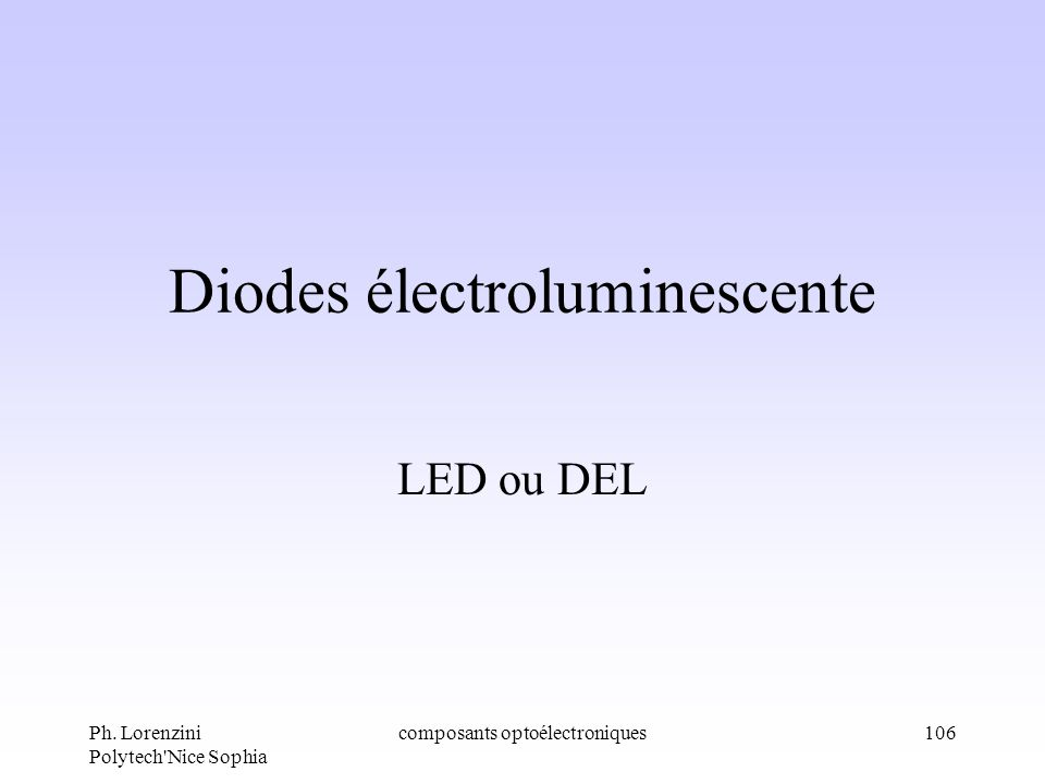 Diodes électroluminescente