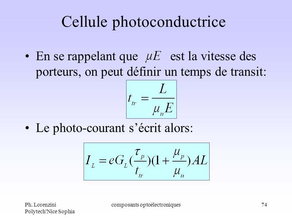 Cellule photoconductrice