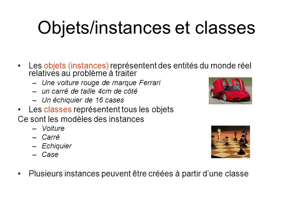 Objets/instances et classes