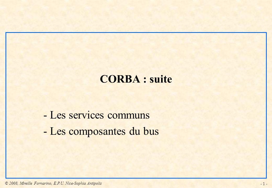 Les services communs Les composantes du bus