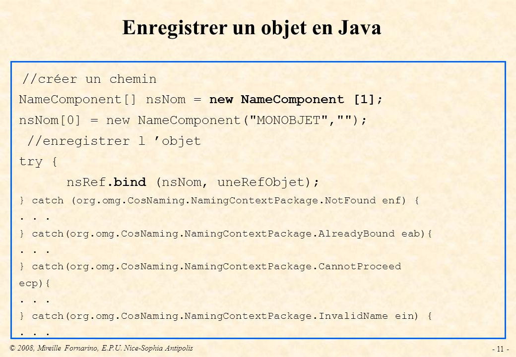 Enregistrer un objet en Java