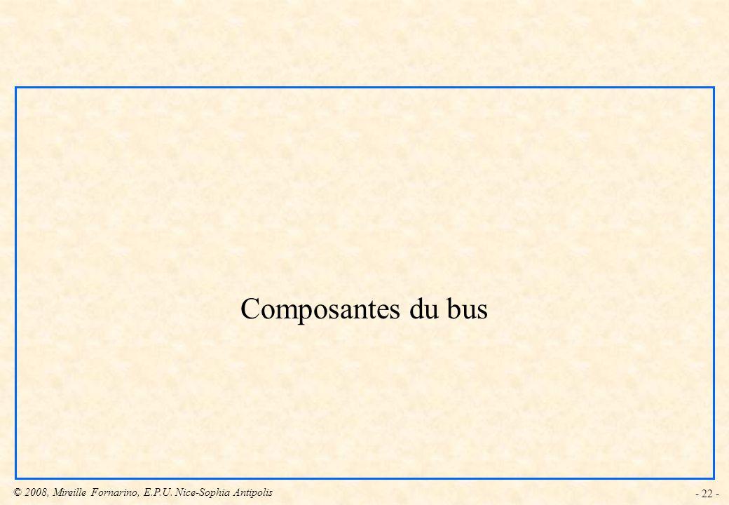 Composantes du bus - 22 -