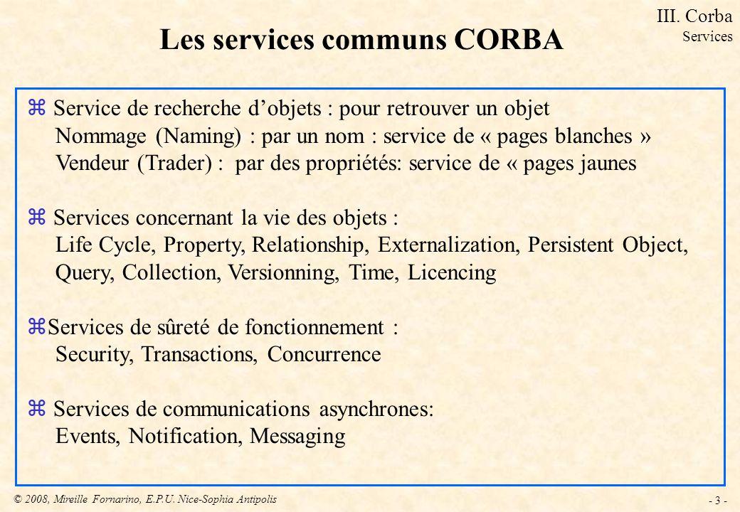 Les services communs CORBA