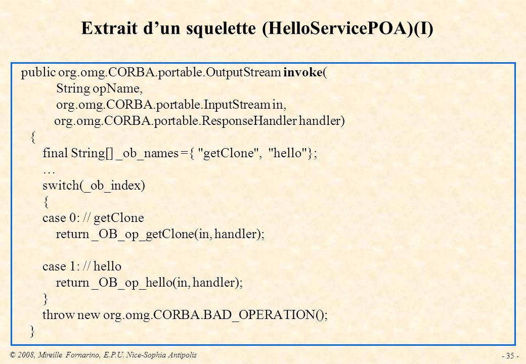 Extrait d'un squelette (HelloServicePOA)(I)
