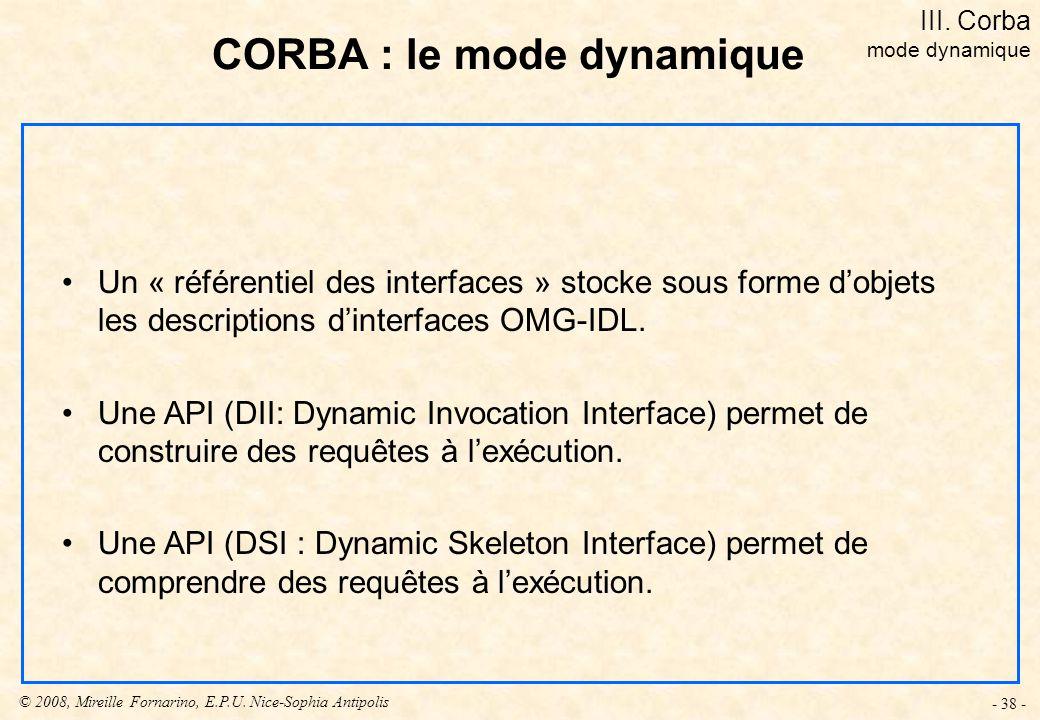 CORBA : le mode dynamique