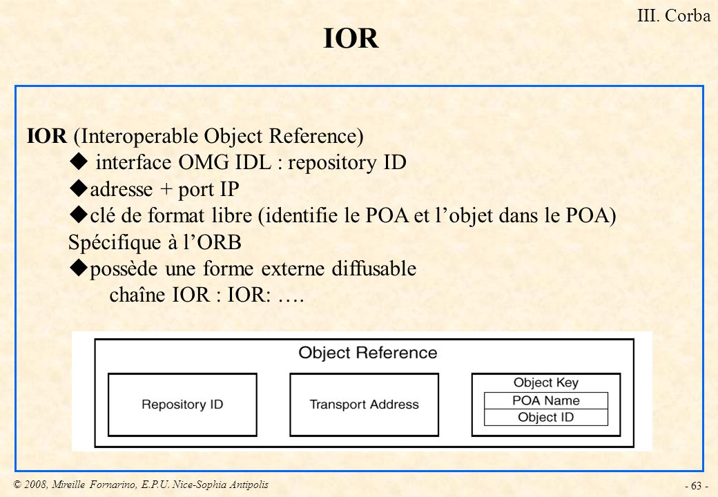 IOR IOR (Interoperable Object Reference)