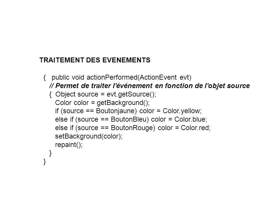 TRAITEMENT DES EVENEMENTS