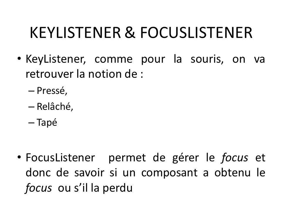 KEYLISTENER & FOCUSLISTENER