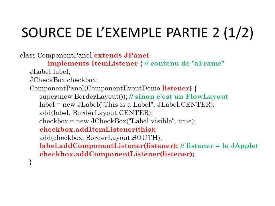 SOURCE DE L'EXEMPLE PARTIE 2 (1/2)