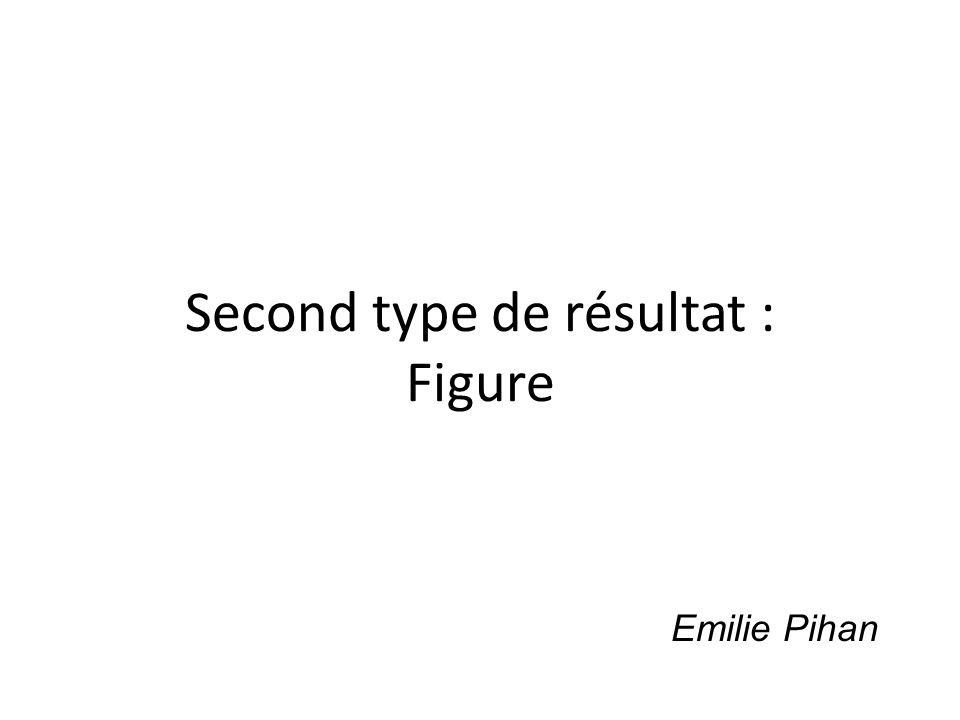 Second type de résultat : Figure