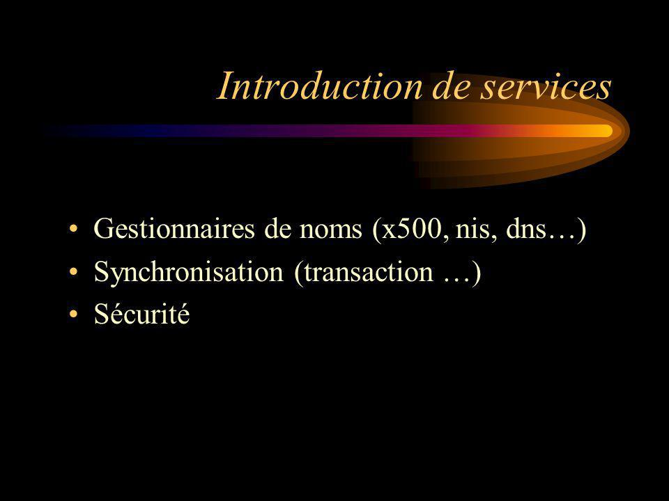 Introduction de services