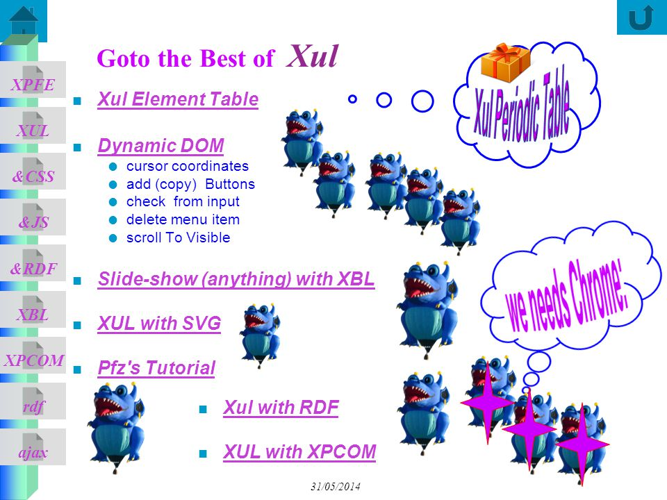 Xul Periodic Table Goto the Best of Xul Xul Element Table Dynamic DOM