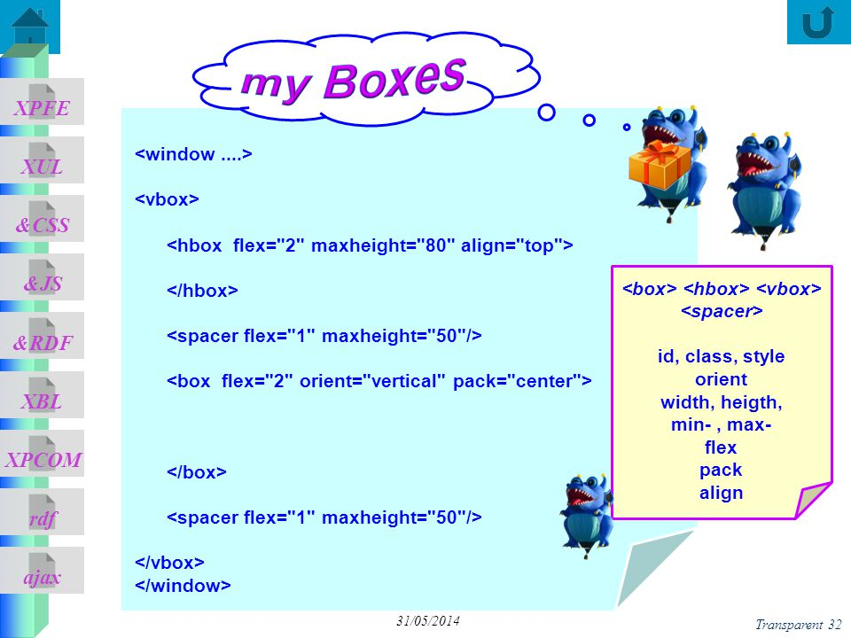 <box> <hbox> <vbox>