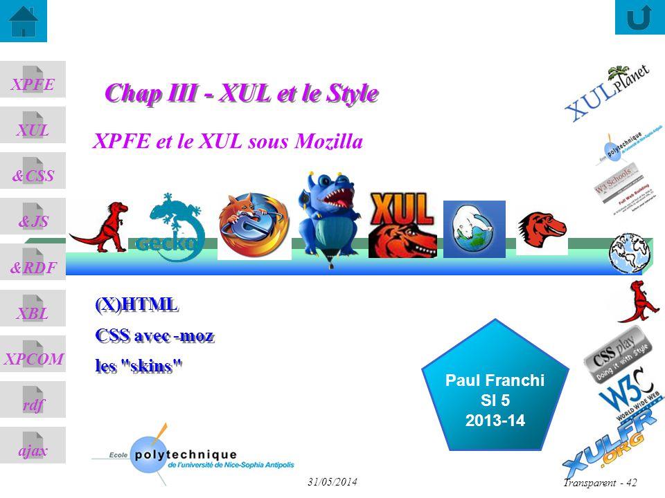 Chap III - XUL et le Style