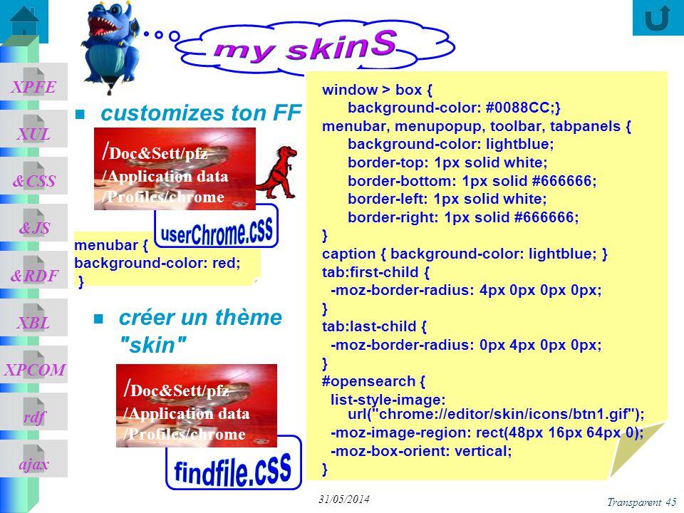 my skinS userChrome.css findfile.css /Doc&Sett/pfz /Doc&Sett/pfz