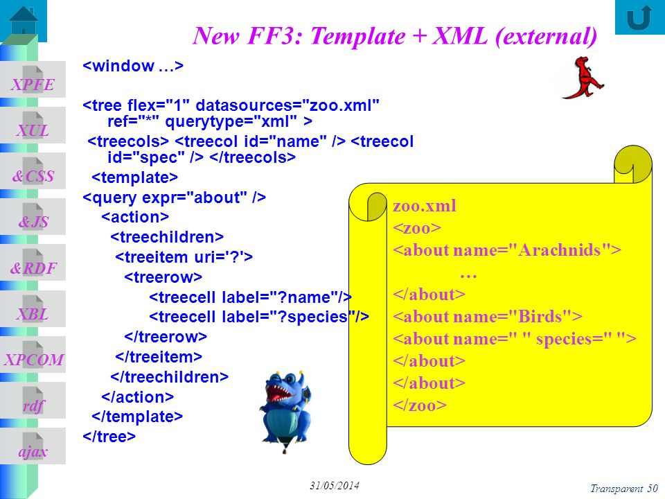 New FF3: Template + XML (external)